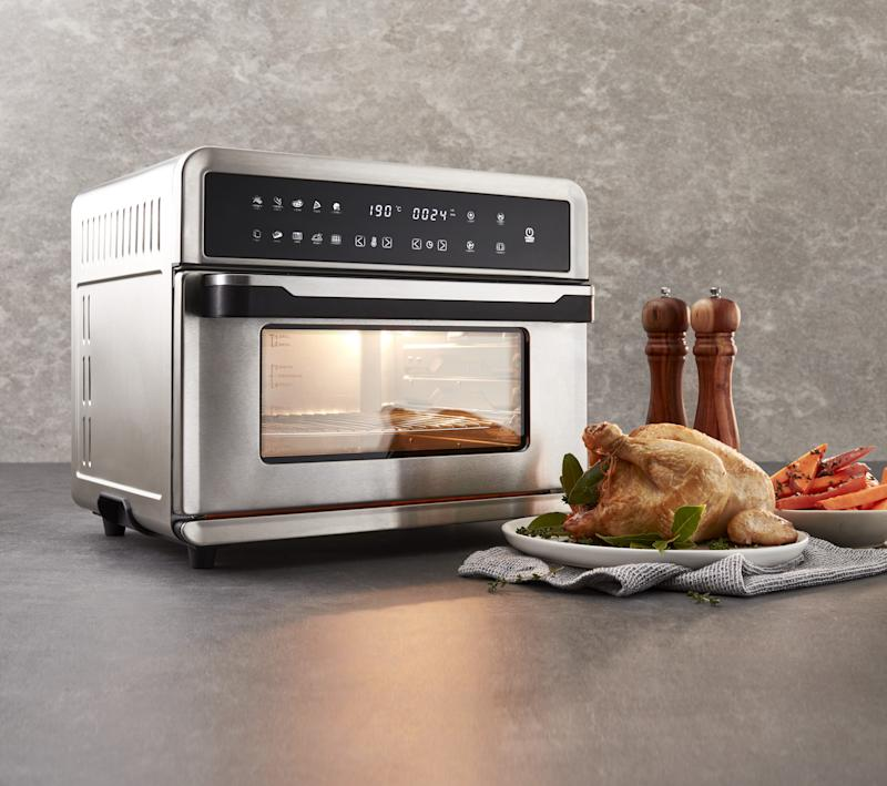 This all-in-one oven with an air fryer will be available for $129. Source: Coles
