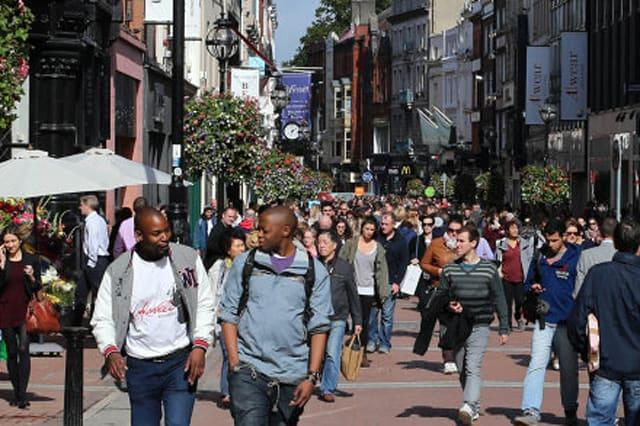 People on Dublins Grafton street shopping district on the day Ireland officially exited its recession. PRESS ASSOCIATION Photo. Picture date: Thursday September 19, 2013. See PA story IRISH Economy . Photo credit should read: Niall Carson/PA Wire