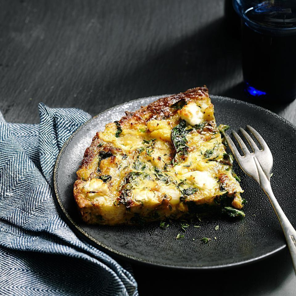 <p>Inspired by traditional Spanish tortillas made with potatoes, this healthy frittata recipe swaps potatoes for low-carb cauliflower. Serve it along with kale (or your favorite greens) for brunch or an easy breakfast-for-dinner.</p>