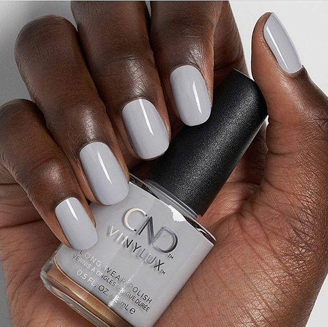 """<p>You can't really go wrong with a classic all over grey, as this shade - 'Thistle Thicket' by CND proves.</p><p><a href=""""https://www.instagram.com/p/CDgVm85H88z/"""" rel=""""nofollow noopener"""" target=""""_blank"""" data-ylk=""""slk:See the original post on Instagram"""" class=""""link rapid-noclick-resp"""">See the original post on Instagram</a></p>"""