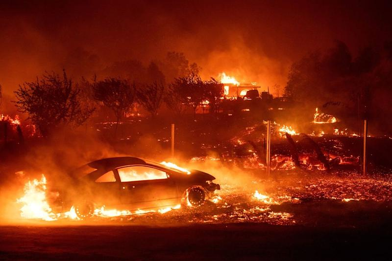 Kim Kardashian and Kanye West's home in flames from California Wildfire