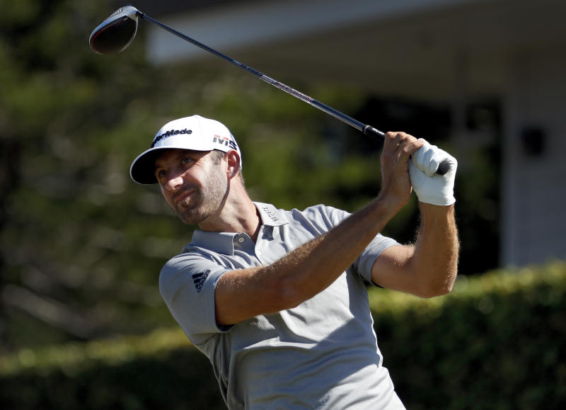 Dustin Johnson hangs on for victory at Saudi International