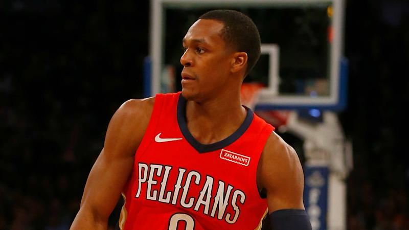 Pelicans PG Rajon Rondo to miss game vs. Rockets with sprained wrist