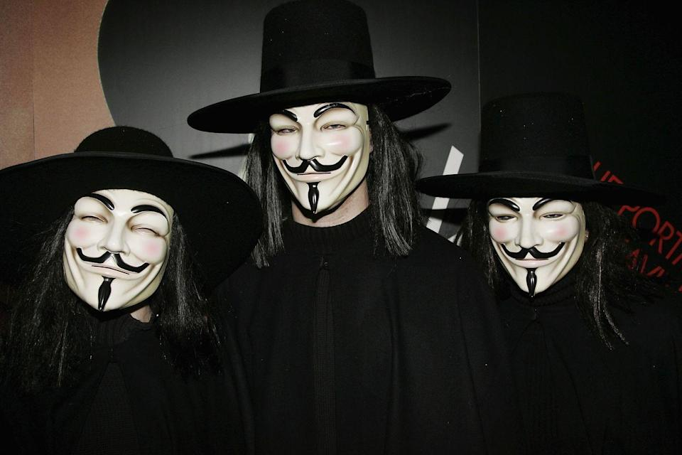 """<p>Technically, there is only one V, but as the movie demonstrates, these masks are very unsettling for a reason. These are a great solution for an affordable and easy-to-wear Halloween look that's still pretty spooky.</p><p><a class=""""link rapid-noclick-resp"""" href=""""https://www.amazon.com/dp/B08FGCJLN5?tag=syn-yahoo-20&ascsubtag=%5Bartid%7C10070.g.28669645%5Bsrc%7Cyahoo-us"""" rel=""""nofollow noopener"""" target=""""_blank"""" data-ylk=""""slk:SHOP MASKS"""">SHOP MASKS</a></p>"""