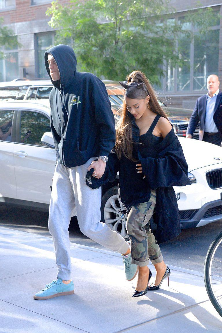 """<p>Though she never met him, Ariana got a tattoo in honor of Pete's Davidson's dad shortly after they started dating. </p><p>She had """"8148"""" inked on her foot, the Scott Davidson's firefighter badge number. Pete also has a tattoo of the numbers as a tribute to his father, who died in 9/11. Ari later covered it with """"Myron,"""" Mac Miller's dog who she adopted after his death. </p>"""