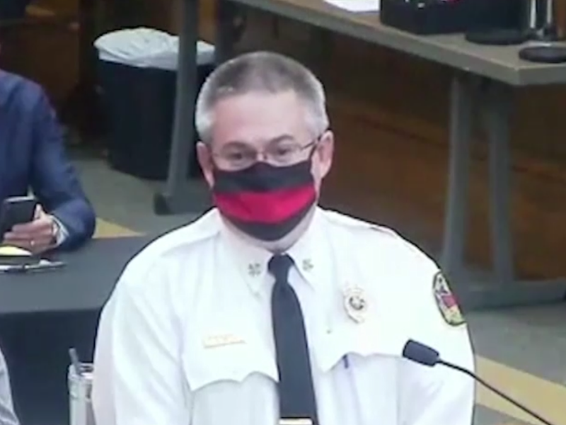 Tuscaloosa fire chief Randy Smith speaking at a City Council meeting on Tuesday: (ABC)