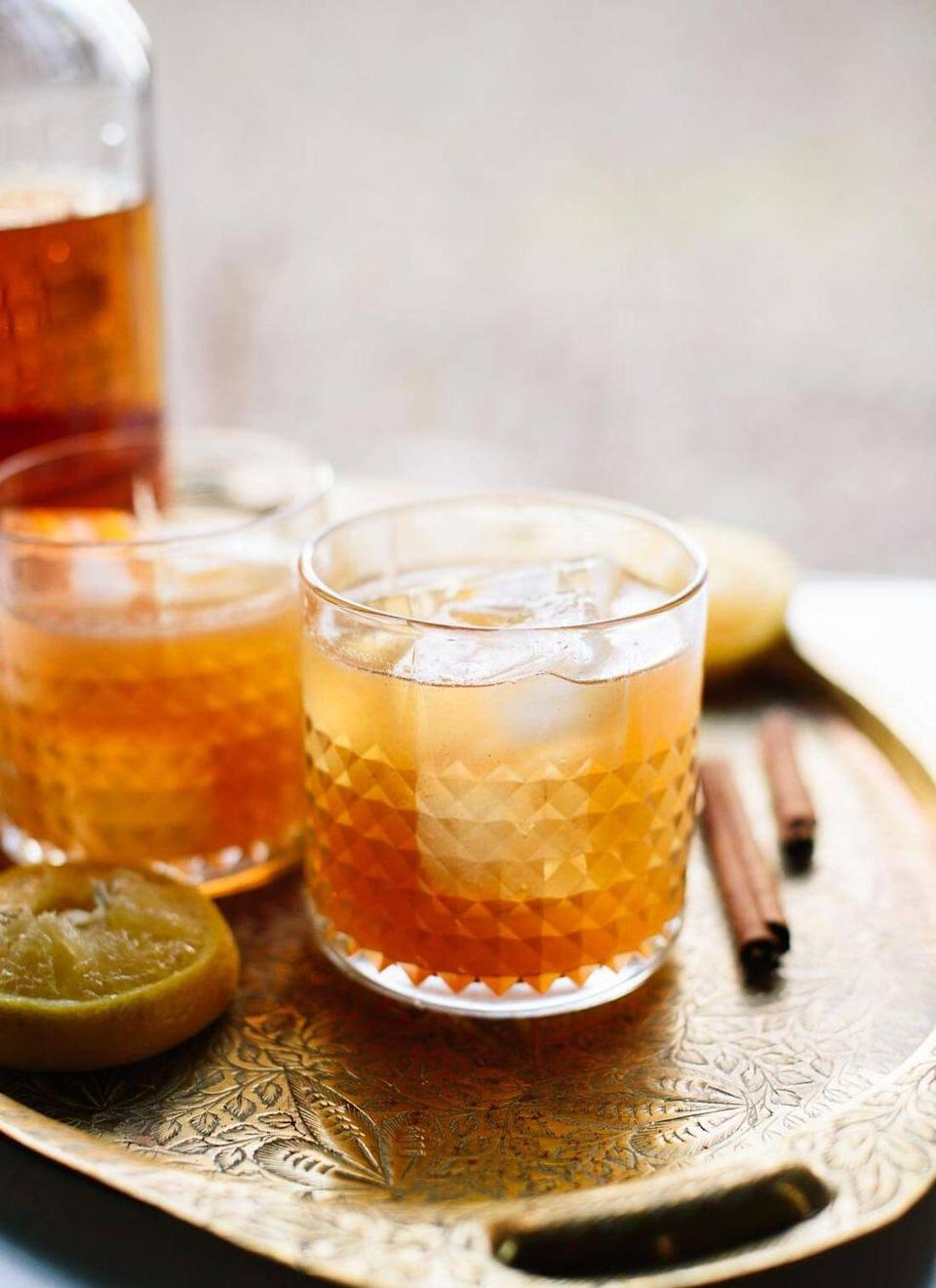 """<p>Even those who don't love whiskey will want to try this cocktail. It's sweetened with maple syrup and flavored with a pinch of cinnamon.</p><p><strong>Get the recipe at <a href=""""https://cookieandkate.com/cinnamon-maple-whiskey-sour-recipe/"""" rel=""""nofollow noopener"""" target=""""_blank"""" data-ylk=""""slk:Cookie + Kate"""" class=""""link rapid-noclick-resp"""">Cookie + Kate</a>.</strong></p><p><strong><a class=""""link rapid-noclick-resp"""" href=""""https://go.redirectingat.com?id=74968X1596630&url=https%3A%2F%2Fwww.walmart.com%2Fbrowse%2Fdining-entertaining%2Fdrinkware%2F4044_623679_639999_3148543%3Ffacet%3Dbrand%253AThe%2BPioneer%2BWoman&sref=https%3A%2F%2Fwww.thepioneerwoman.com%2Ffood-cooking%2Fmeals-menus%2Fg33510531%2Ffall-cocktail-recipes%2F"""" rel=""""nofollow noopener"""" target=""""_blank"""" data-ylk=""""slk:SHOP DRINKWARE"""">SHOP DRINKWARE</a><br></strong></p>"""
