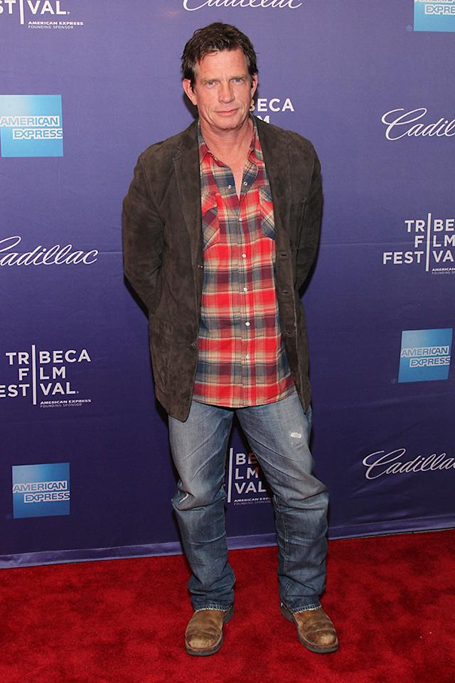 "NEW YORK, NY - APRIL 19:  Actor Thomas Haden Church attends the ""Whitewash"" World Premiere during the 2013 Tribeca Film Festival on April 19, 2013 in New York City.  (Photo by Rob Kim/Getty Images for Tribeca Film Festival)"