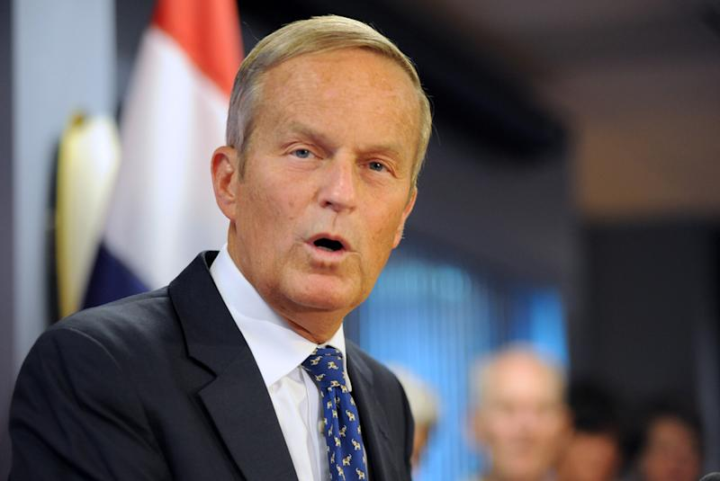 Missouri Congressman Todd Akin's remarks about a woman's body resisting fertilization in a legitimate rape created outrage. Despite pressure from his party, Akin stayed in the Senate race and lost to incumbent Claire McCaskill. (Sid Hastings/AP Photo)