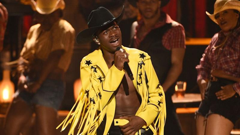 The musician Lil Nas X performing.