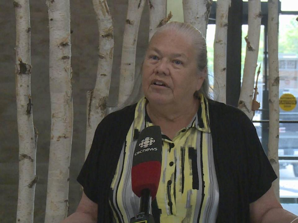 Theresa Sims, the elder and cultural language specialist Ska:Na Family Learning Centre, says Indigenous people celebrated the harvest long before colonizers arrived. (Darrin Di Carlo/CBC - image credit)
