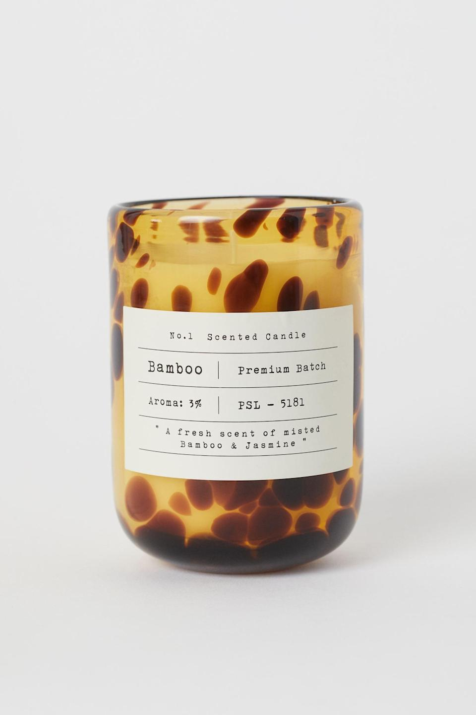 <p>This <span>Scented Candle in Glass Holder</span> ($18) is a chic way to unwind after work, look at the luxe-looking jar! It would make a fashionable gift too.</p>