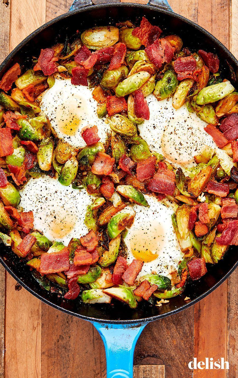 """<p>Give brussels sprouts the respect they deserve.</p><p>Get the recipe from <a href=""""https://www.delish.com/cooking/recipe-ideas/recipes/a58136/brussels-sprouts-hash-recipe/"""" rel=""""nofollow noopener"""" target=""""_blank"""" data-ylk=""""slk:Delish"""" class=""""link rapid-noclick-resp"""">Delish</a>. </p>"""