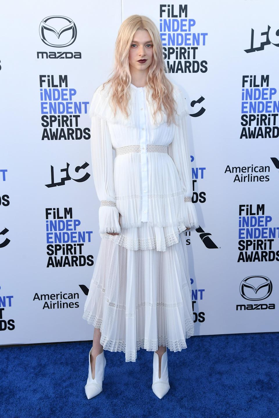 in Loewe at the Film Independent Spirit Awards in Los Angeles, 2020