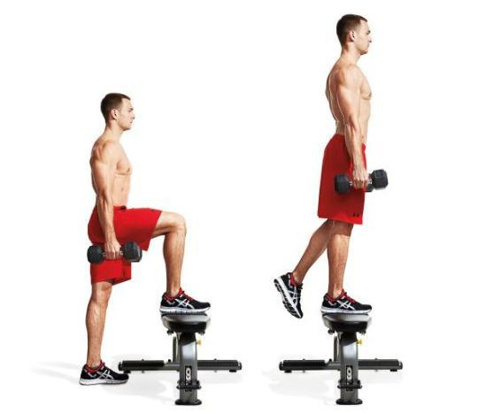 box step ups with dumbbells 3