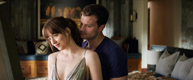 Dakota Johnson and Jamie Dornan in <em>Fifty Shades Freed</em>. (Photo: Universal Pictures/Courtesy Everett Collection)