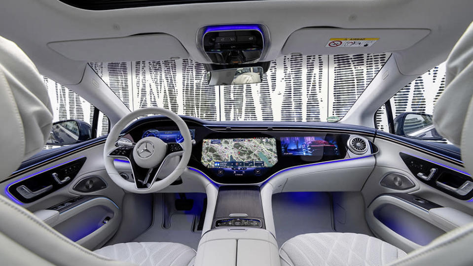 The interior of the new EQS from Mercedes-EQ. - Credit: Mercedes-Benz