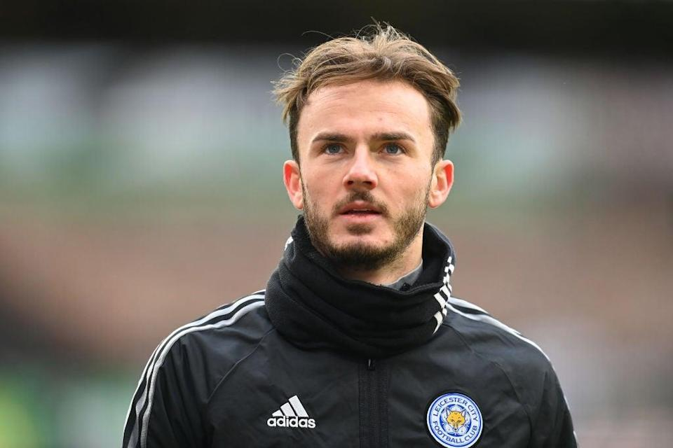 <p>James Maddison was one of three Leicester players left out against West Ham</p> (Getty Images)