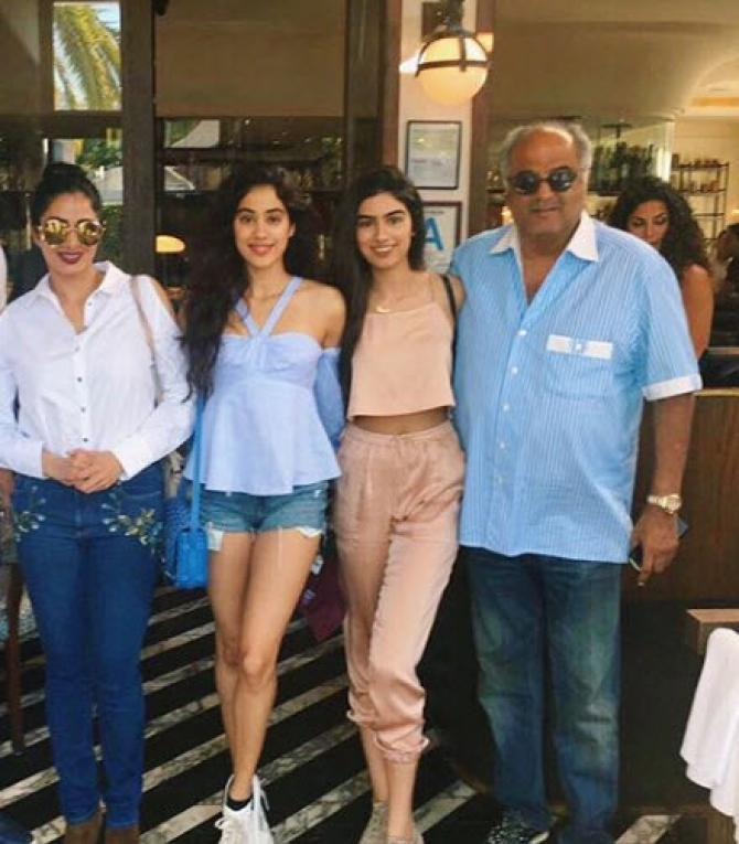 Sridevi and family