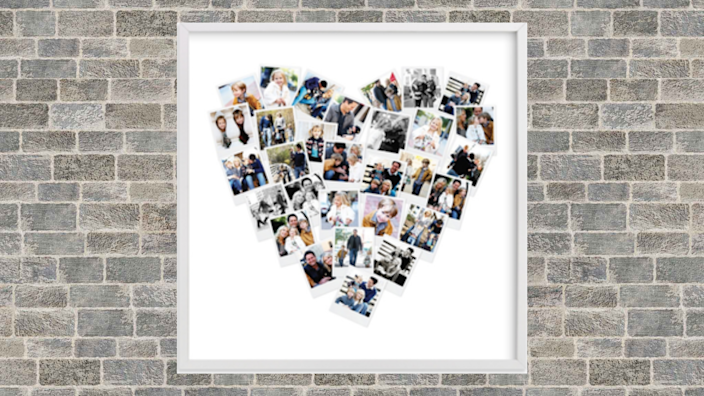 Best photo gifts of 2020: Heart Snapshot Mix Photo Art