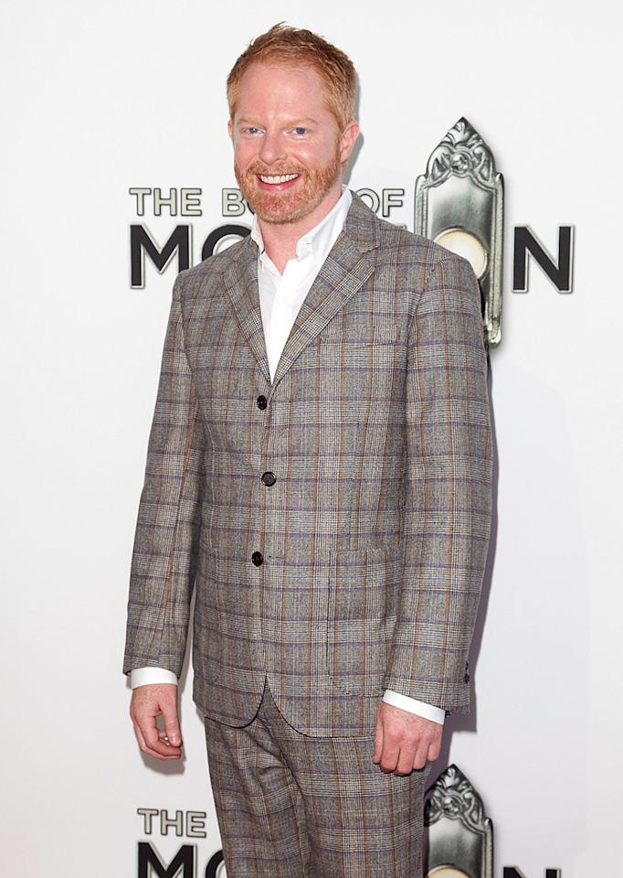 """""""Modern Family"""" actor Jesse Tyler Ferguson was mad for plaid on Wednesday night. """"I had a great time being a seat filler,"""" he joked on Twitter the next day. (9/12/2012)"""