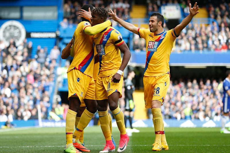 Derby delights: Crystal Palace beat Chelsea at Stamford Bridge: AFP/Getty Images