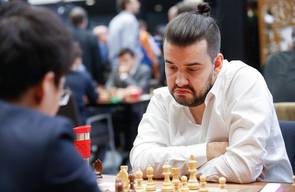 Ian Nepomniachtchi, pictured in 2019, inspired conspiracy theories with an easy 10th-round victory over his compatriot Kirill Alekseenko.