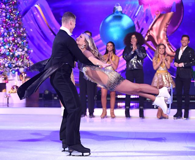 Hamish Gaman was Caprice's first Dancing On Ice partner (WireImage)