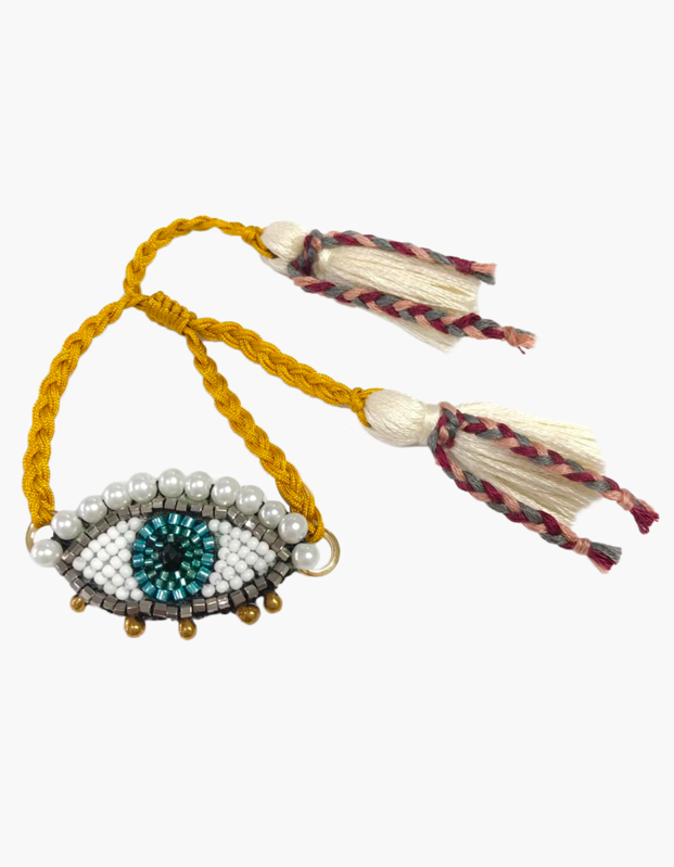 "An eye-catching item for the style maximalist who believes more is more when it comes to accessorizing. $90, OliveLA. <a href=""https://www.olivela.com/products/maeha-morena-marea-bracelet-307519"" rel=""nofollow noopener"" target=""_blank"" data-ylk=""slk:Get it now!"" class=""link rapid-noclick-resp"">Get it now!</a>"