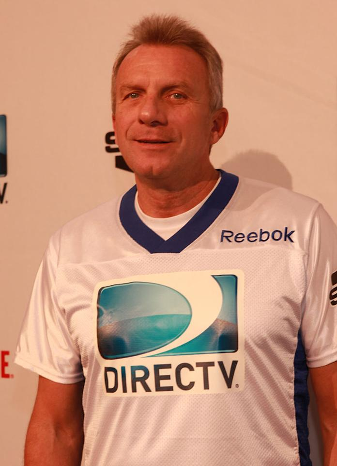 NFL Hall of Famer Joe Montana arrives at the DirecTV Celebrity Beach Bowl in Indianapolis.