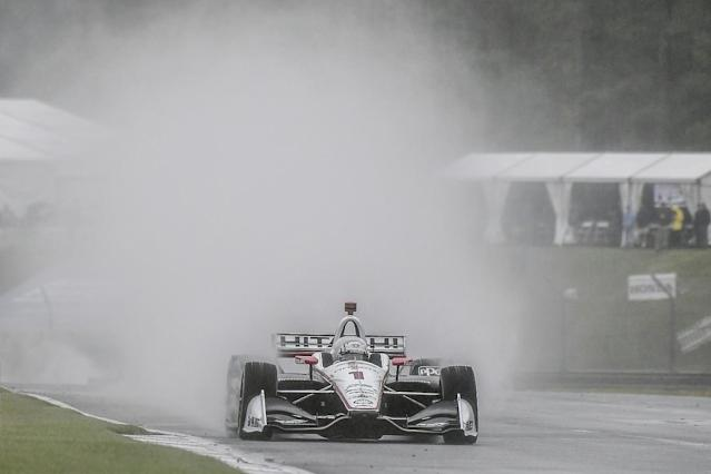 "Penske's Will Power says he could not believe IndyCar restarted the race at Barber Motorsports Park under the ""very dangerous"" extreme weather conditions"