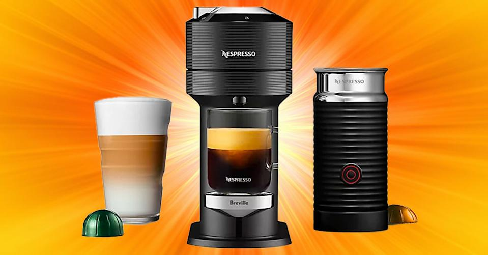 This Nespresso by Breville VertuoLine coffee maker is the lowest price on the internet, only at Bed Bath & Beyond. (Photo: Bed Bath & Beyond/Getty)