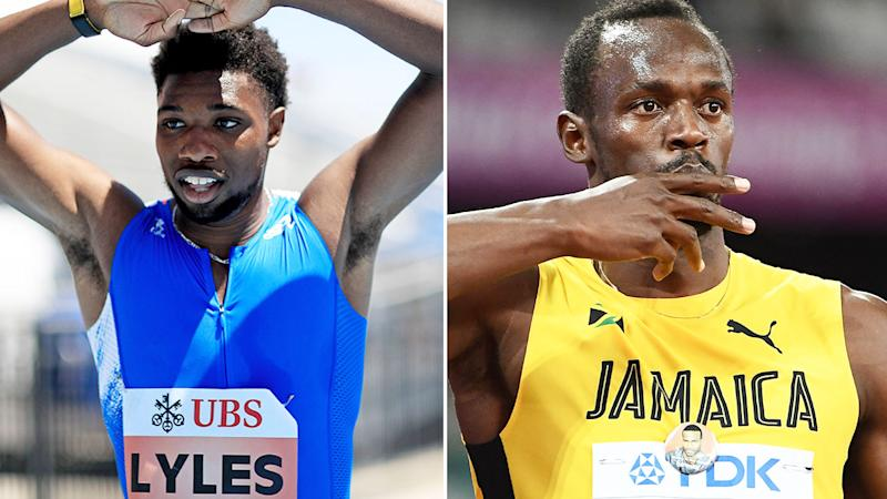 Pictured here, American Noah Lyles and Jamaican sprint king Usain Bolt.