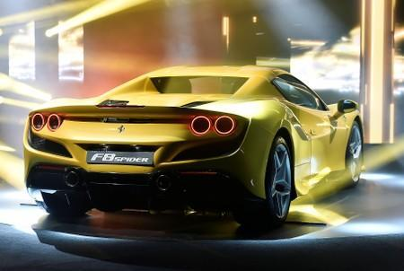Ferrari F8 Spider is unveiled during a presentation of two new Ferrari models at an event at the company's headquarters in Maranello