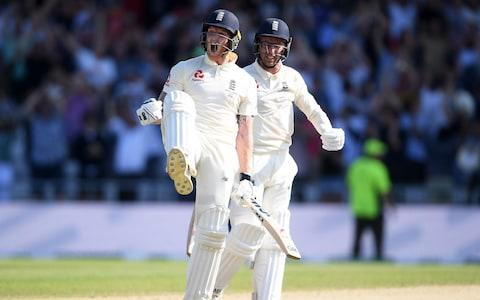 Stokes and Leach celebrate - Credit: Getty Images