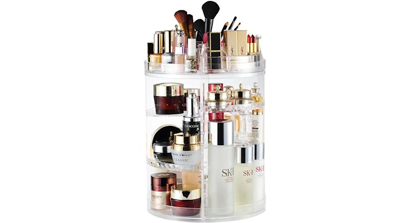 Makeup Organiser 360 Degree Rotating Adjustable Cosmetic Display Stand