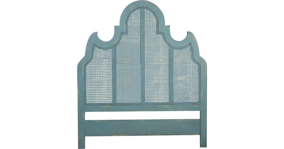 "<p><strong>Layla Grayce Essentials</strong></p><p>laylagrayce.com</p><p><strong>$1755.55</strong></p><p><a href=""https://laylagrayce.com/catalog/ornate-caned-headboard_1151981/?finish=Coastal+Aqua+Over+Scandinavian+Linen"" rel=""nofollow noopener"" target=""_blank"" data-ylk=""slk:Shop Now"" class=""link rapid-noclick-resp"">Shop Now</a></p><p>Painted in an soothing aqua finish, the decorative lines of the Ornate Caned headboard from Layla Grace make a feminine statement in a bedroom.</p>"