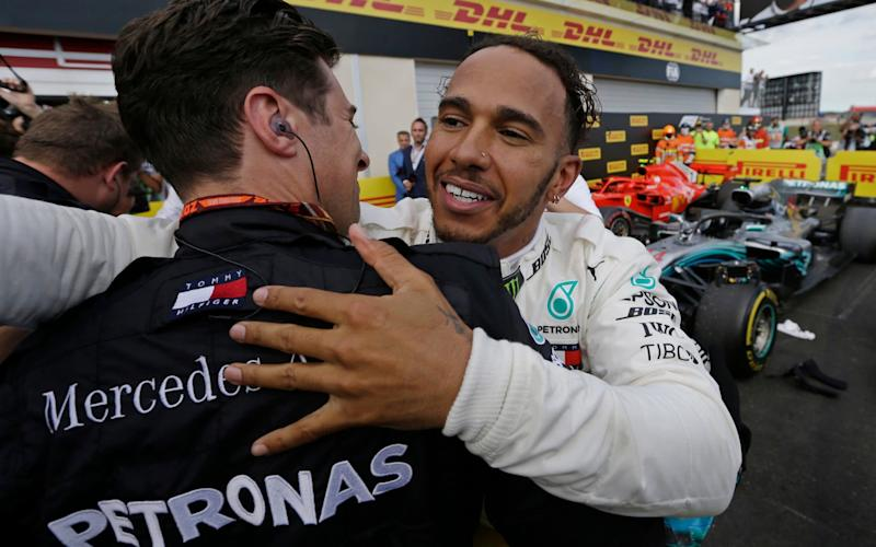 Lewis Hamilton retook the lead of the championship with a win in France - AP