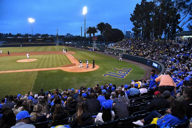 UCLA isn't happy Jackie Robinson Stadium is being used as a jail. (Photo by Jayne Kamin-Oncea/Getty Images)