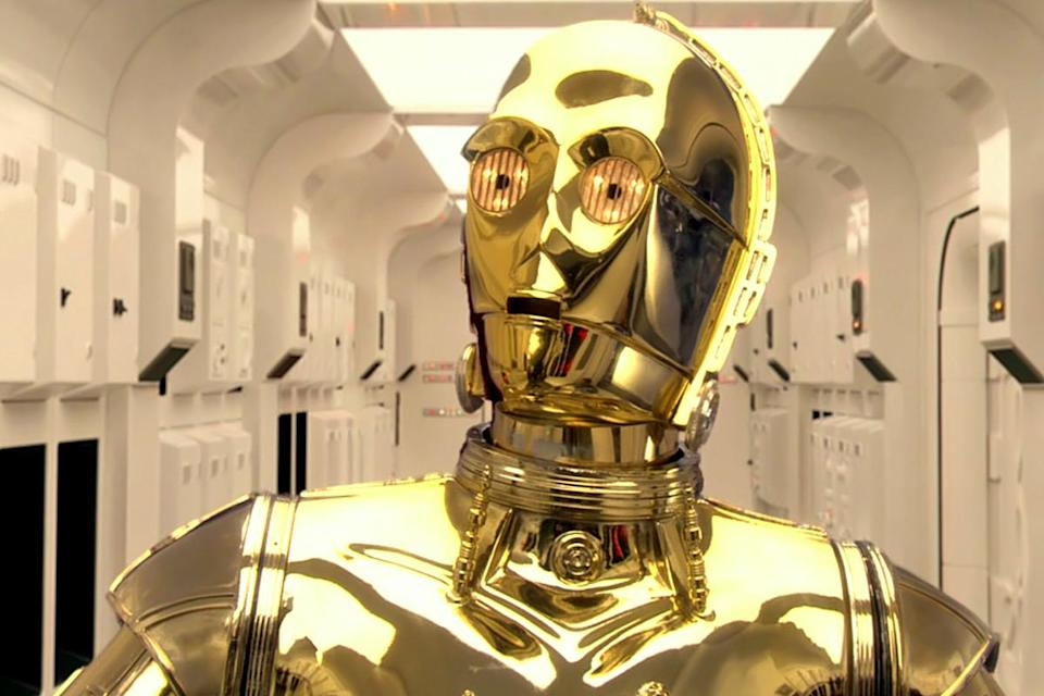 An original C3PO head from 'The Empire Strikes Back' is going up for auction in London (credit: Lucasfilm)