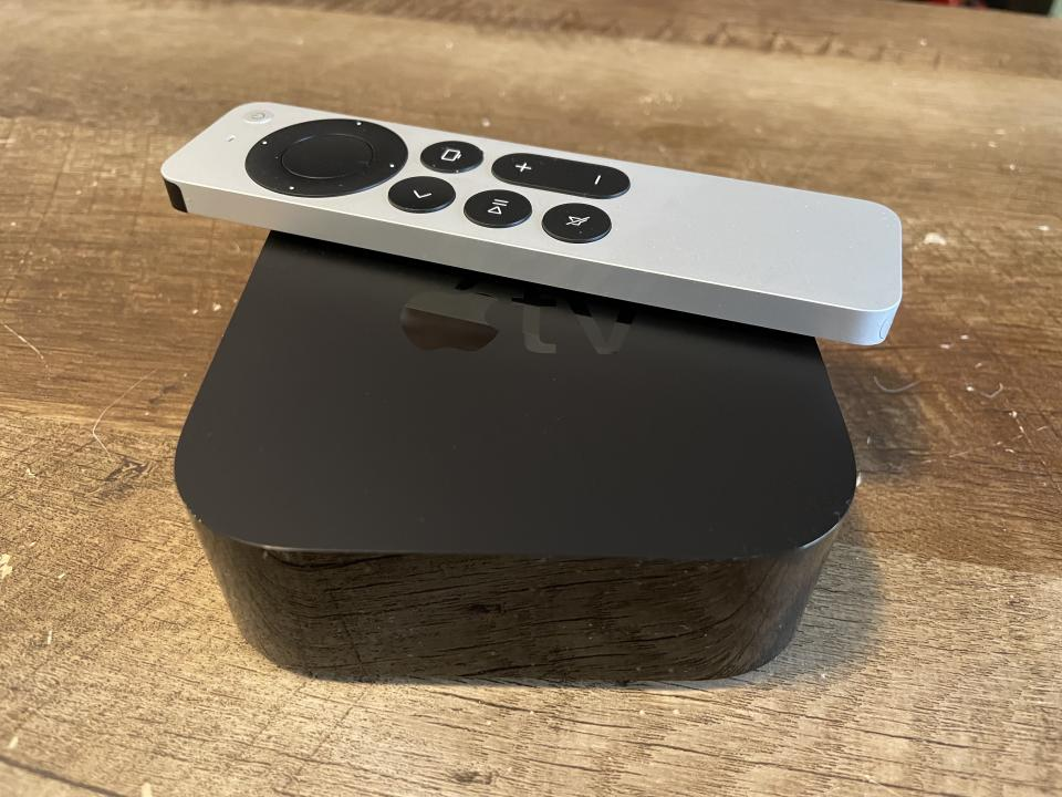 Apple's new Apple TV 4K gets a far better remote and incredibly helpful color calibration feature. (Image: Howley)