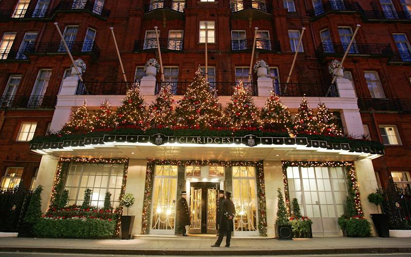 Claridge's will be getting into the Christmas spirit this year with its inaugural range of festive hampers, available to purchase now. - 2007 Getty Images