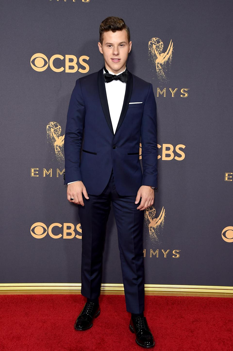 <p>Nolan Gould attends the 69th Primetime Emmy Awards on Sept. 17, 2017.<br> (Photo: Getty Images) </p>