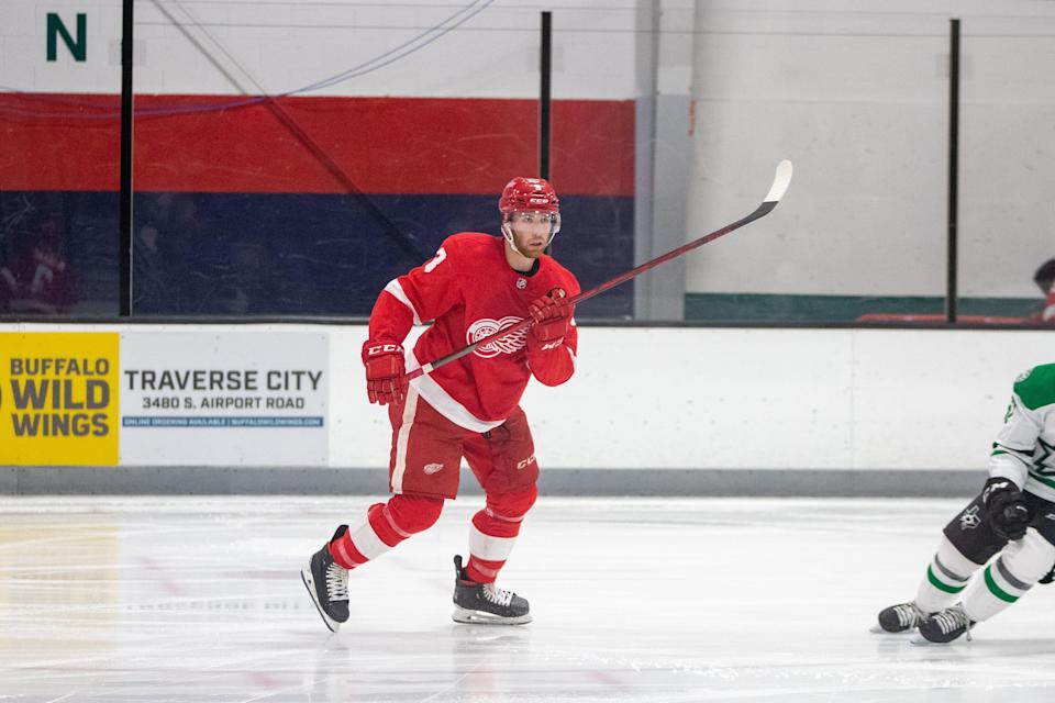 Detroit Red Wings defense prospect Jared McIsaac, Sept. 16, 2021.