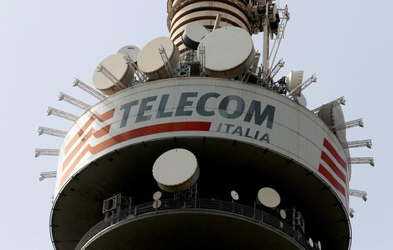 FILE PHOTO: Telecom Italia tower in Rome