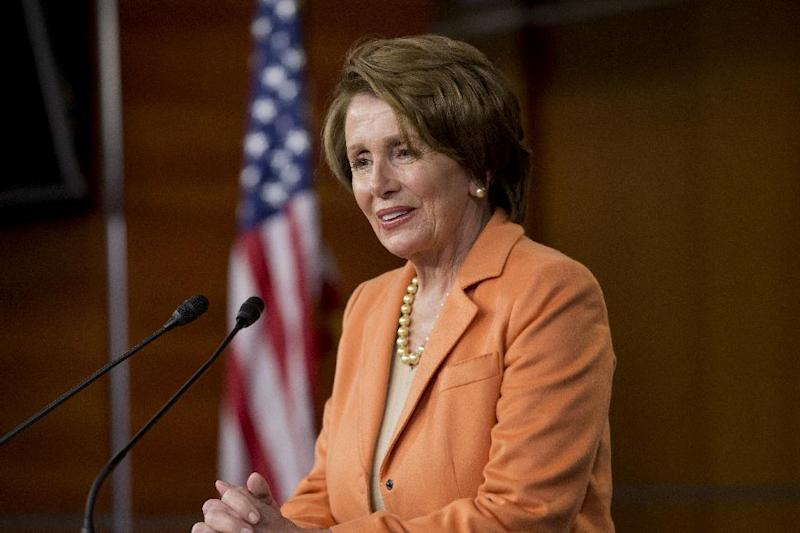 House Minority Leader Nancy Pelosi of Calif. speaks during a news conference on Capitol Hill in Washington, Thursday, March 21, 2013, after the Republican-controlled House passed a tea party-flavored budget plan Thursday that promises sharp cuts in safety-net programs for the poor and a clampdown on domestic agencies, in sharp contrast to less austere plans favored by President Barack Obama and his Democratic allies. (AP Photo/J. Scott Applewhite)