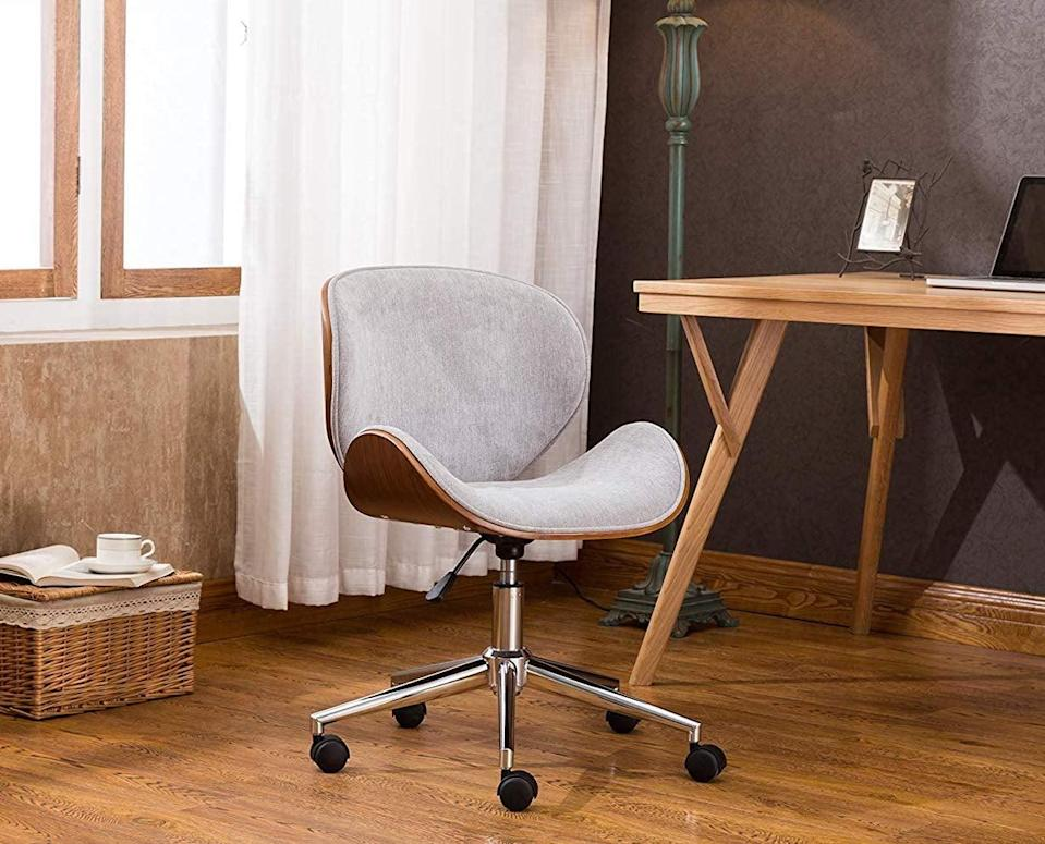 <p>Feel like a boss in this <span>Porthos Home Branson Mid-Century Style Office Chair</span> ($130).</p>