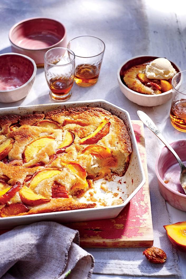 "<p><b>Recipe: <a href=""https://www.southernliving.com/recipes/easy-peach-cobbler-recipe"" rel=""nofollow noopener"" target=""_blank"" data-ylk=""slk:Easy Peach Cobbler"" class=""link rapid-noclick-resp"">Easy Peach Cobbler</a></b></p> <p>Raise your hand if this is just one of those desserts that you can't live without. Replicate Grandma's famous peach cobbler with this easy recipe– and don't forget to top with a scoop of vanilla ice cream.</p>"