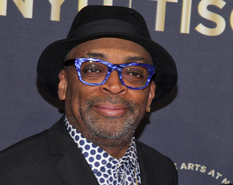 FILE - In this April 4, 2016 photo, Spike Lee attends the NYU Tisch School of the Arts 50th Anniversary Gala in New York.  Lee and his companies are being sued by the directors of three union benefit plans for not making sufficient health and pension contributions. The lawsuit was filed Wednesday against Lee, Forty Acres and a Mule Filmworks and Black Butterfly Productions. It claims an audit found nearly $45,000 in unpaid contributions between September 2007 and March 2010. (Photo by Andy Kropa/Invision/AP, File)