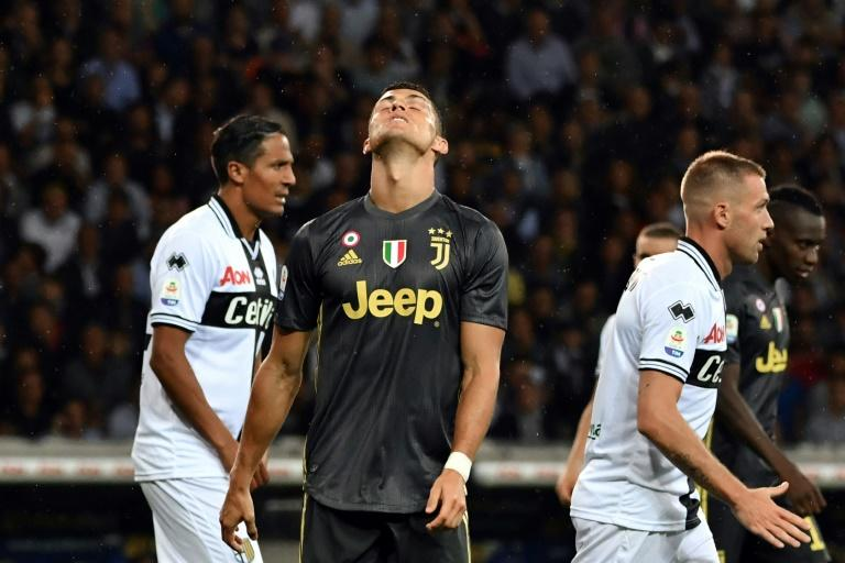 Ronaldo has failed to score in his first three Serie A matches for Juventus